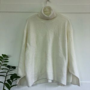 NWT H&M Oversized Cream Cowl-Neck Sweater